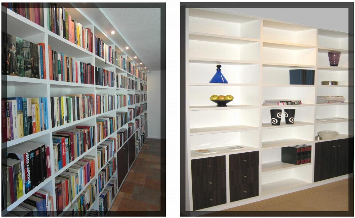 Boekenkasten op maat   rechtstreeks uit eigen meubelmakerij